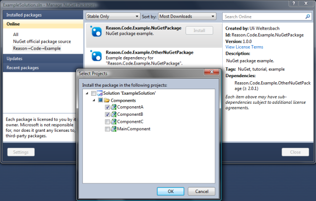 Managing solution NuGet packages