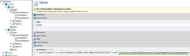 Example - layout field in copy