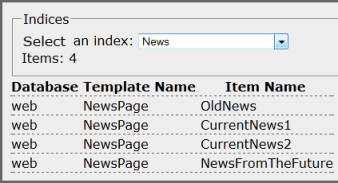 News index contents