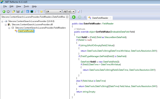 Sitecore.ContentSearch.LuceneProvider.FieldReaders.DateFieldReader