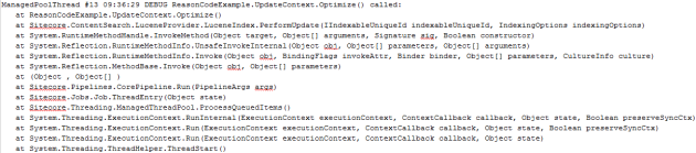 Skipped index optimizations.