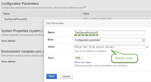 Define a build parameter.